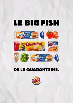 With fast food restaurants closed, Burger King France with agency Buzzman offers those in lockdown a chance to recreate the magic of the Whopper at home Sandwich Burger King, Burger King Uk, Shake Shack, Graphic Design Lessons, Fast Food Restaurant, Cookies Policy, Creative Advertising, Big Fish, C'est Bon