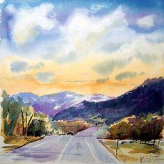 beautiful watercolor landscape