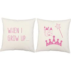 Girl's Princess Pillows - for your princess in training