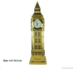 GOLDEN-DIE-CAST-METAL-BIGBEN-CLOCK-IN-LONDON-SOUVENIR-GIFT-BOX
