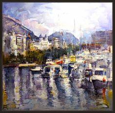 Ernest Descals.Artista Pintor: ALICANTE-PINTURA-PUERTO-BARCELONA-PAISAJES-ESPAÑA-...