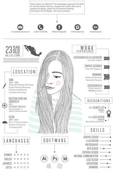 Best Creative Resume Design Infographics Best collection of resume designs 2015 for all. Examples of CV and curriculum vitae samples for all freshers and experienced. Cv Inspiration, Graphic Design Inspiration, Graphisches Design, Logo Design, Creative Cv Design, Design Ideas, Creative Ideas, Design Trends, Conception Cv