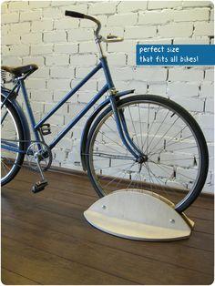 Bike stand, woodden bike holder, bicycle Shelf, bike accessories Buy it here: https://www.etsy.com/shop/BikeWoodHome