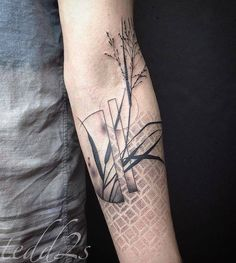 Abstract plant and geometric pattern tattoo by Tedd Hucks inked on the left fore… – Tattoo Pattern Hand Tattoos, Unique Forearm Tattoos, Sleeve Tattoos, Dot Tattoos, Mason Jar Tattoo, Wishbone Tattoo, Tatuaje Trash Polka, Roots Tattoo, Shadow Tattoo