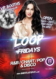 Loop Fridays at Loop Bar on Friday, 20th February 2015. Events in bars and nightclubs in London - GuestlistSPOT.com.