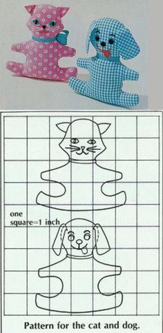 Calico Cat & Gingham Dog Patterns