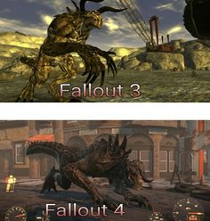 I like the idea of having the Deathclaws different between Fallout Guy, Fallout Tips, Fallout Fan Art, Fallout New Vegas, Fallout Tattoo, Vault Tec, World On Fire, Bioshock, Fantasy