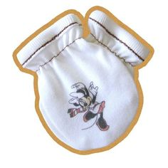 Designer baby mittens minnie mouse ORGANIC COTTON by rockbabies, $4.99