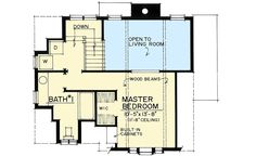 This craftsman design floor plan is 1183 sq ft and has 2 bedrooms and has 2 bathrooms. Cottage Floor Plans, Cottage House Plans, Small House Plans, Cottage Homes, House Floor Plans, Cozy Cottage, Small English Cottage, Fairytale House, Victorian Cottage