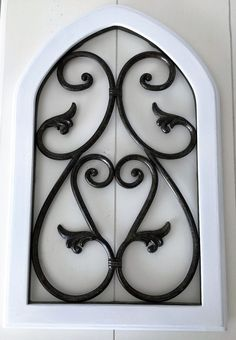 Architectural Tuscan~ Metal & Wood Pediment Wall Decor Door Arched Panel Arch