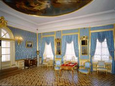 peterhof palace interior/images | The Great Peterhof Palace. The Blue Reception Room - Peterhof ...