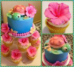 Hibiscus turtle cake