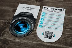 Buy Photographer Business Card | 3 by erseldondar on GraphicRiver. FEATURES Easy to customize Editable text/colors Well organized layer Work organized in folders Print ready All Social...