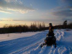 Snowmobiling.....