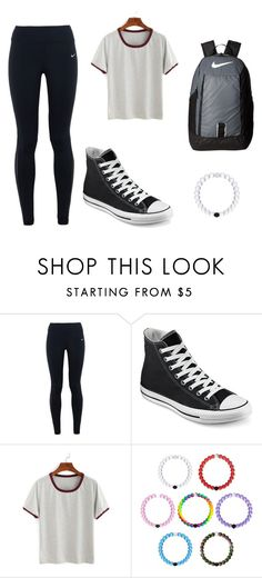 school by kmmzki on Polyvore featuring NIKE and Converse