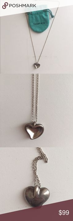 Tiffany & Co. Elsa Peretti Floating Heart 100% Authentic Tiffany & Co. Elsa Peretti Floating Heart Necklace. Sterling silver. 15.75in chain length. Includes original pouch. ✌ Tiffany & Co. Jewelry Necklaces