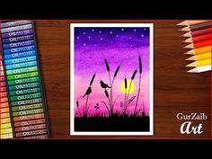 oilpastels pastels drawing sunset birds draw with very easy kids step how oil for to How to Draw sunset birds drawing with oil pastels very easy for kids step by You can find Birds and more on our website Oil Pastel Drawings Easy, Oil Pastel Paintings, Cool Art Drawings, Easy Drawings, Pastel Artwork, Oil Pastel Colours, Soft Pastel Art, Pastel Sunset, Oil Pastels