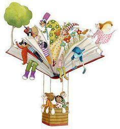 I #libri fanno volare e liberano la #fantasia, come un bel #viaggio in mongolfiera...