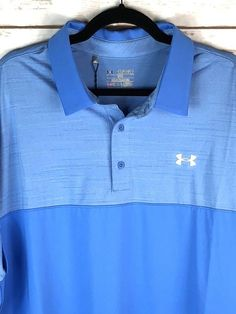 fc4a1017245 Under Armour UA Men s Golf Polo Shirt Size 2XL Water Blue MSRP  64.99 NWT