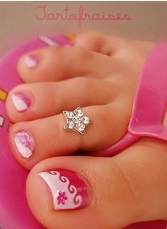 Madi did this design yesterday at our pedicures! Perfect for little girls!