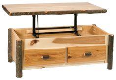 Rustic Lift Top Coffee Table Nice