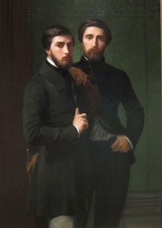 """Hippolyte-Jean Flandrin: """"René-Charles Dassy and His Brother Jean-Bapiste-Claude-Amédé Dassy"""", 1850, oil on canvas, Cleveland Museum of Art."""