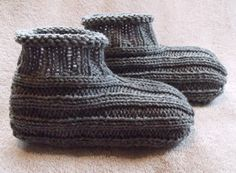 knitted slippers free pattern