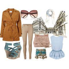 Paris Blues by ellary-branden on Polyvore featuring beauty, Brooks Brothers, River Island, Dolce&Gabbana, Vero Moda and BC Footwear