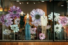 Flower displays are lovely! #BocaRaton #Anthropologie