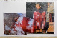 Pixel-Collage n°5, de Thomas Hirschhorn, 2015.