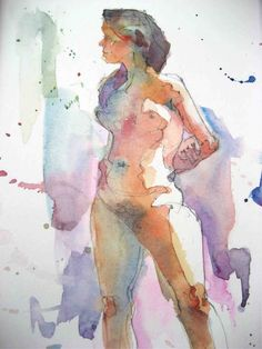 Nora MacPhail - Artist: life drawing watercolours