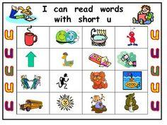 kindergarten short i words | SHORT VOWEL U BINGO GAME- KINDERGARTEN WORD WORK - TeachersPayTeachers ...