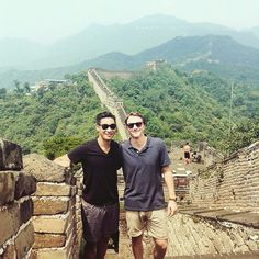 NMU students Derek Dun and Gerard Hanson during their summer 2015 study abroad in Shanghai China.  #nmuabroad #generationstudyabroad  #sharenmu #studyabroad #isaabroad #greatwallofchina #china by nmuabroad