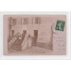 CORSE - PIANELLO : carte photo d'une bénédiction de maison vers 1900