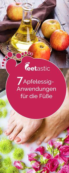7 Apfelessig-Anwendungen gegen Fußbeschwerden Der Hausmittel-Klassiker: Apfelessig! Hier erfahren Sie, gegen welche Fußleiden das Naturprodukt wirklich helfen kann. Die besten Apfelessig-Anwendungen für die Füße.