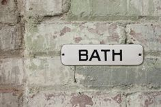 Photography Samples - texture  Vintage Original 1920's Porcelain Bath Door Sign by MDQualityGoods, $125.00