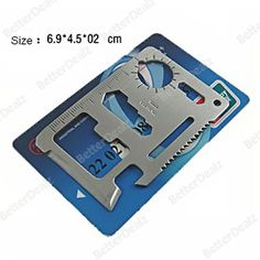 11 in 1 multi camping outdoor tool credit card survival chainsaw pocket knife