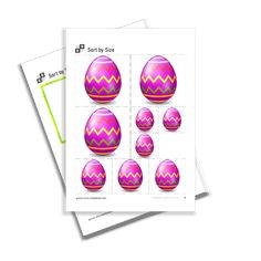 Sort by Size of the serie Easter. By Using, Sorting, Easter, Printables, Print Templates
