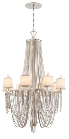"""Fixture of the Day - """"Flirt"""" by Corbett featuring Amethyst Rock Crystal!! Call Lighting Etc (817) 514-8552 or visit www.light-etc.com for pricing & availability."""