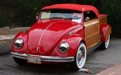 1967 Volkswagen - custom woody - red - fvl | Lake Arrowhead,… | Flickr