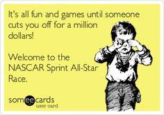 All-Star race day, Nascar Sprint Cup, Nascar Racing, Drag Racing, Nascar Quotes, Nascar Memes, Kyle Larson, Kurt Busch, Race 3, My Champion