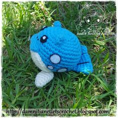 Chibi Spheal (pokemon) - free crochet pattern at damn it Janet, let's crochet!