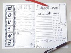 movies journal printable planner to seen seen di LaSoffittaDiSte