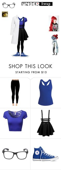 """"""" underswap undyne """" by honeyswamp ❤ liked on Polyvore featuring Black Diamond, Converse and Puella"""