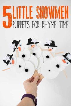 Five Little Snowmen Puppets