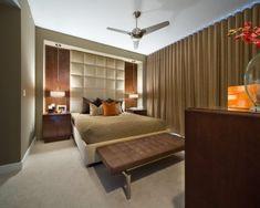 Modern Master Bedroom Design Ideas with Elegant Brown Bedroom Theme Master Bedroom Interior, Modern Master Bedroom, Modern Bedroom Decor, Contemporary Bedroom, Bedroom Ideas, Bedroom Pictures, Bedroom Furniture, Furniture Design, Upholstered Walls