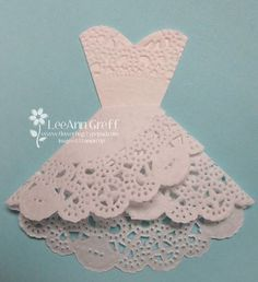 step-by-step instructions for making the doily dress that is all over Pinterest