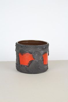 Fat Lava Blumentopf, Marei Übertopf, vintage Pflanzentopf, west german pottery/ Keramiktopf, 70er Jahre, flower pot