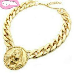 Golden medallion's are super trendy
