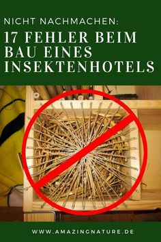 You should avoid these 18 mistakes when building an insect hotel! - 17 mistakes in building an insect hotel that should be avoided. If you build a DIY bee hotel yourse - Diy Garden Projects, Diy Garden Decor, Garden Ideas, Garden Decorations, Garden Inspiration, Garden Show, Home And Garden, Garden Bed, Diy Jardin